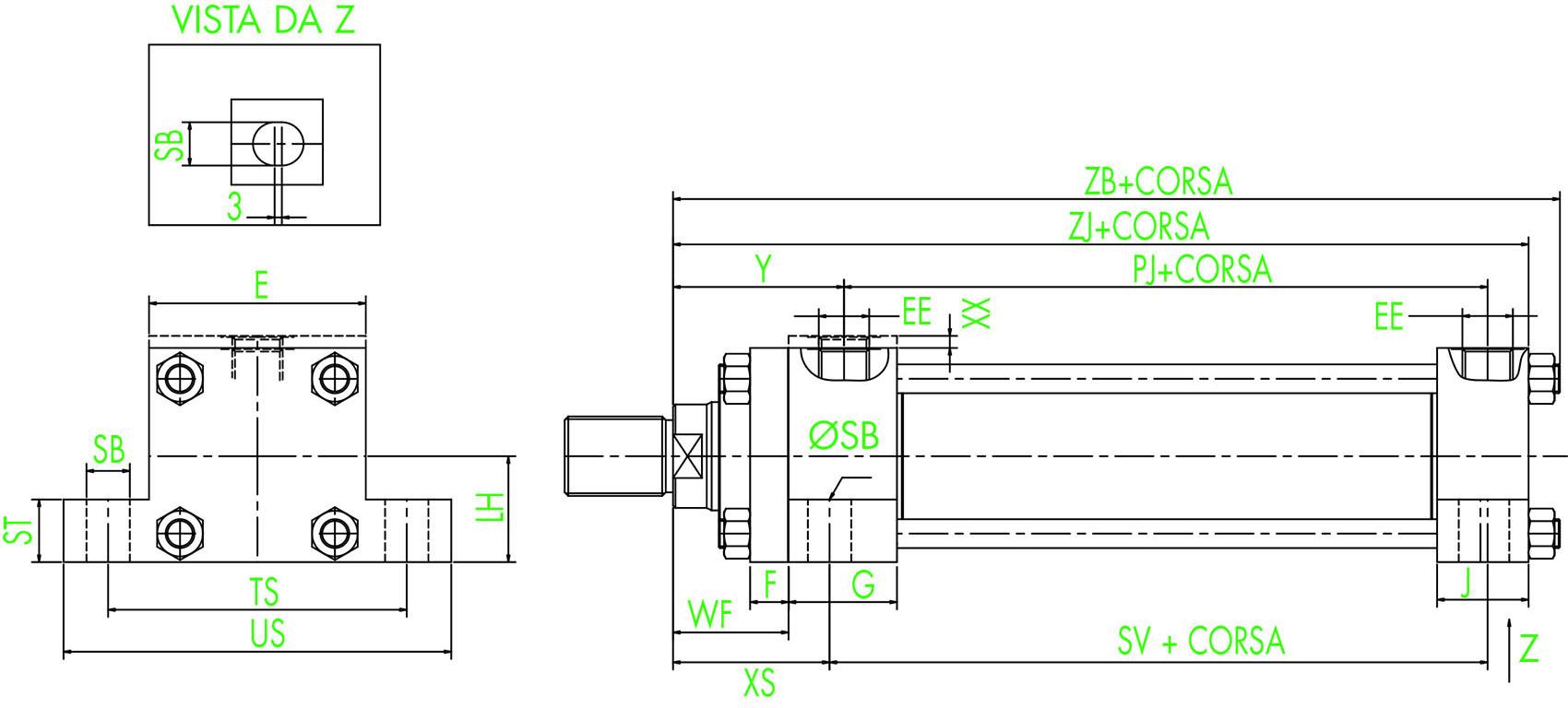 ISO MS2 Auflagefüßchen