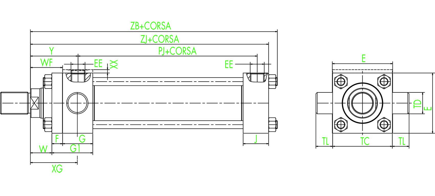 ISO MT1 Vorderer Schwenkzapfen