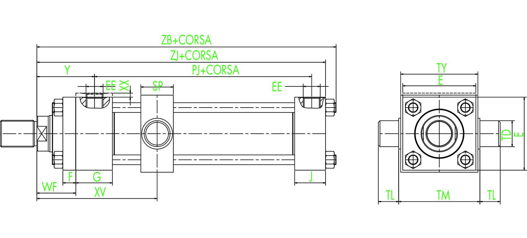 ISO MT4 Zentraler Schwenkzapfen