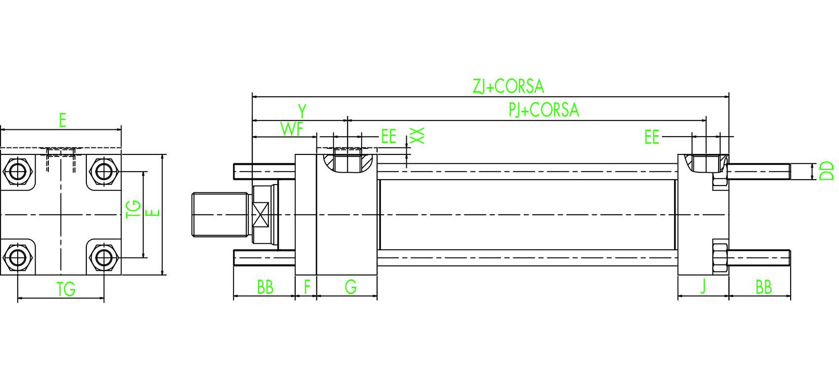 ISO MX1 Vordere und hintere verlängerte Zugstangen